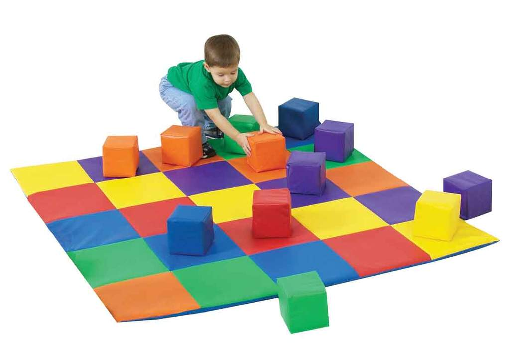Children's Factory CF322-047 Joey's Matching Mat and Soft Block Set - The Creativity Institute