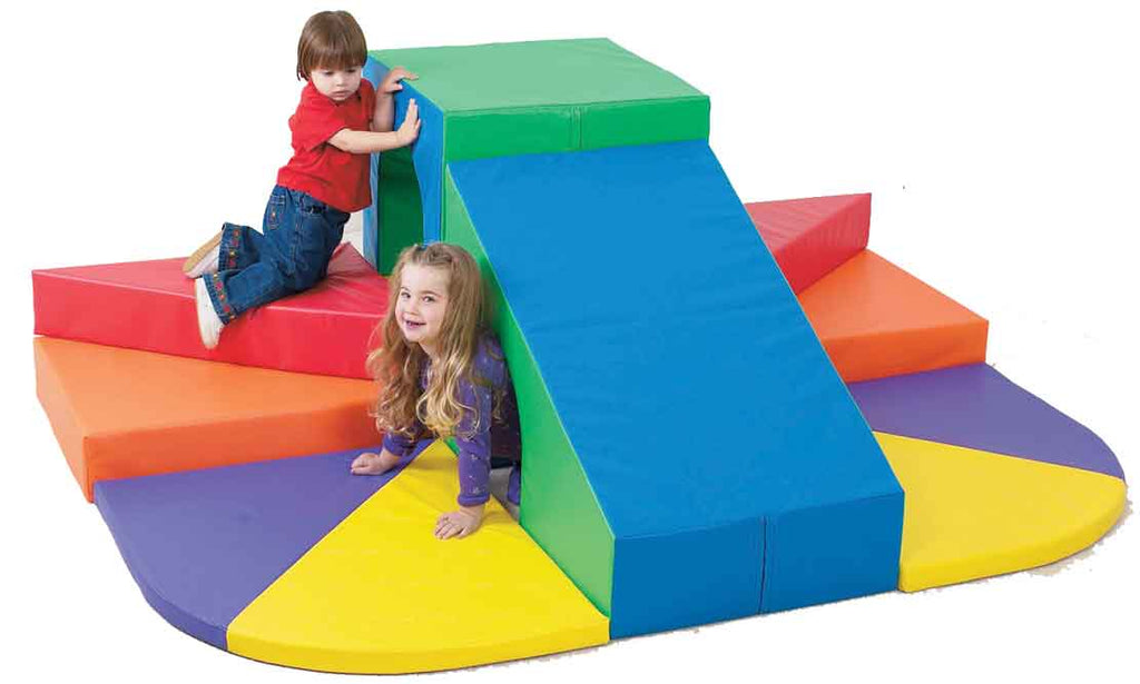Children's Factory CF322-078 Tunnel Mountain Slide Climber