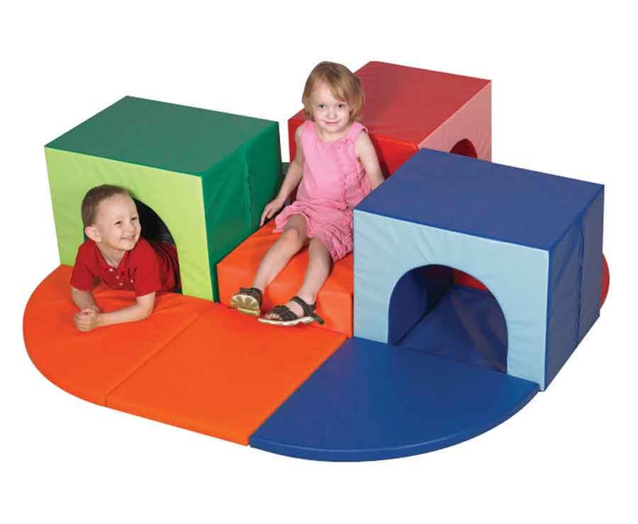 Children's Factory CF322-376 Triple Crawl Thru Climber