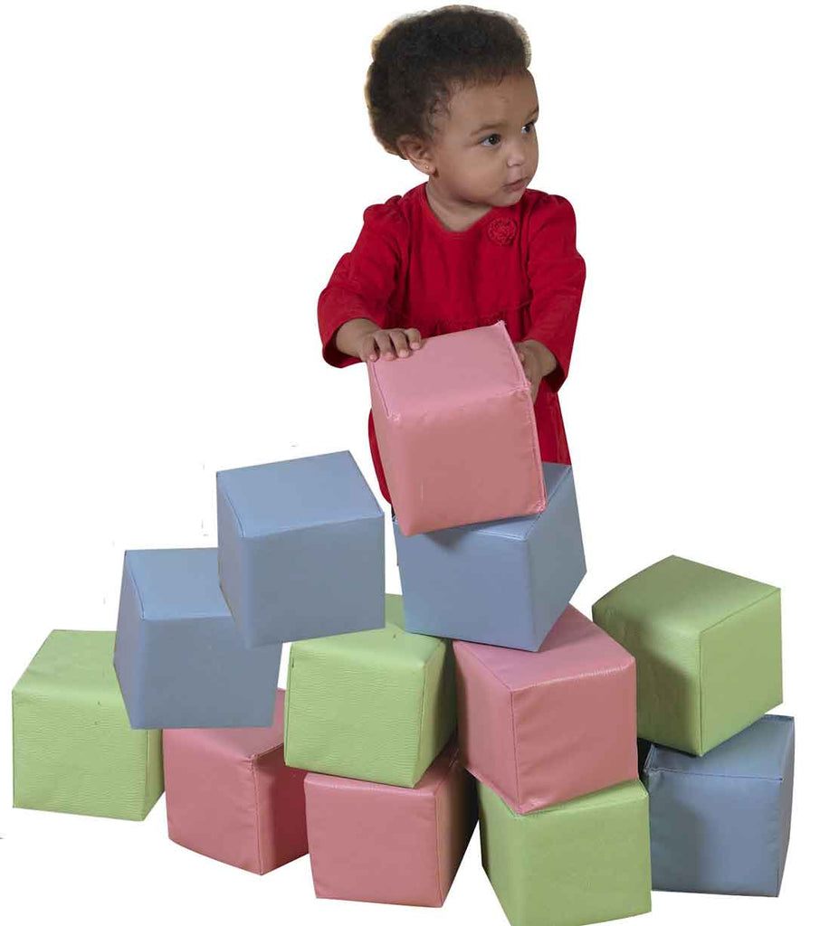 Children's Factory CF362-516P Toddler Baby Blocks - Pastel Colors