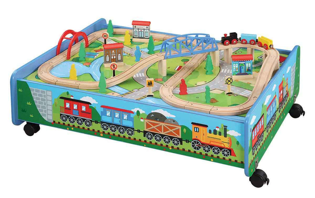Maxim 62 piece Train Set with Trundle on Wheels - 50083-DS
