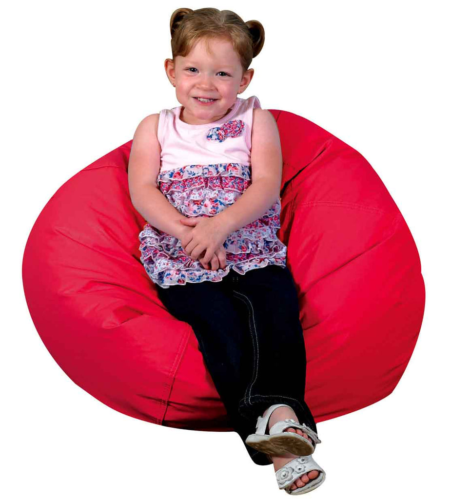"Children's Factory 26"" Dia. Red Bean Bag Chair - CF610-003 - The Creativity Institute"