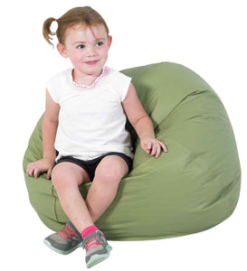 "Children's Factory 26"" Dia. Sage Green Bean Bag Chair - CF610-036"