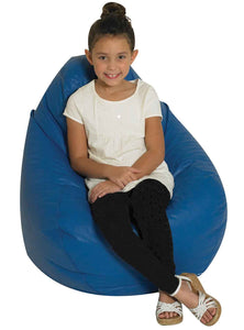 Children's Factory CF610-044 Tear Drop Bean Bag - Blue - The Creativity Institute