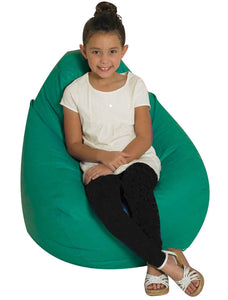 Children's Factory CF610-054 Tear Drop Bean Bag - Green