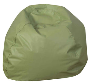 "Children's Factory CF610-083 35"" Dia. Dark Sage Green Bean Bag Chair"