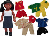 Get Ready Kids 63220 African-American Sports Girl Doll Set