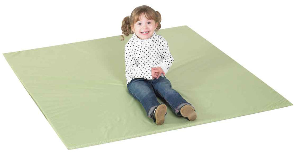 Children's Factory CF705-369 Cozy Woodland Two-Tone Activity Mat - Dark Sage & Light Fern Green