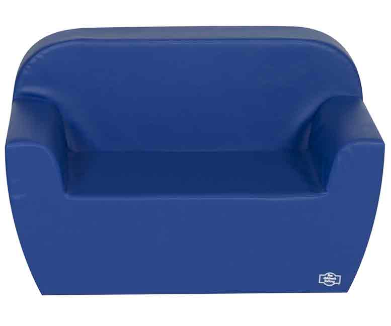 Children's Factory CF705-584 Pre-School Club Collection Love Seat - Blue - The Creativity Institute