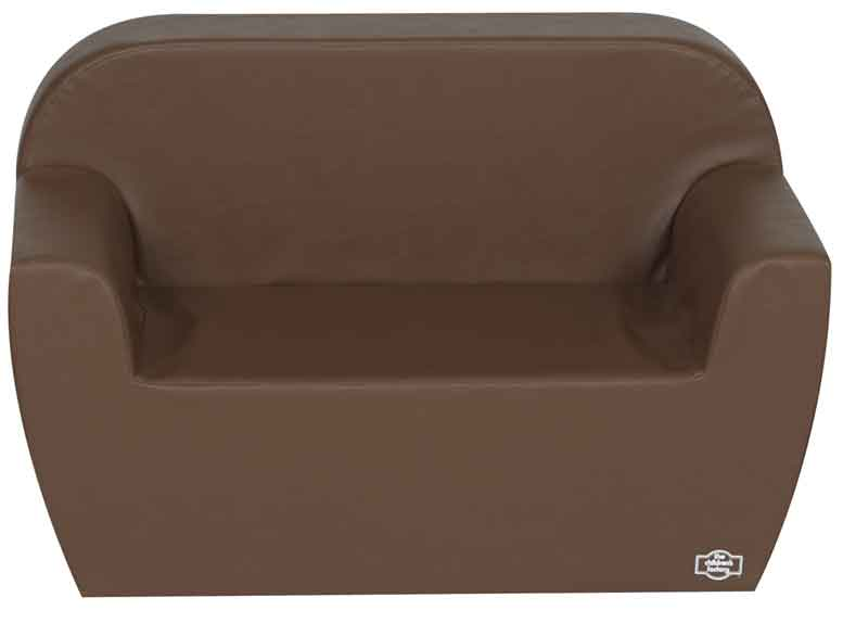 Children's Factory CF705-585 Pre-School Club Collection Love Seat - Walnut - The Creativity Institute