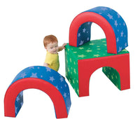 Children's Factory CF710-106PT Tunnel Trilogy Soft Shapes Play Set - The Creativity Institute