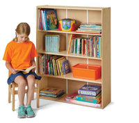 Jonti-Craft Young Time Standard Adjustable-Shelf Bookcase 7117YT