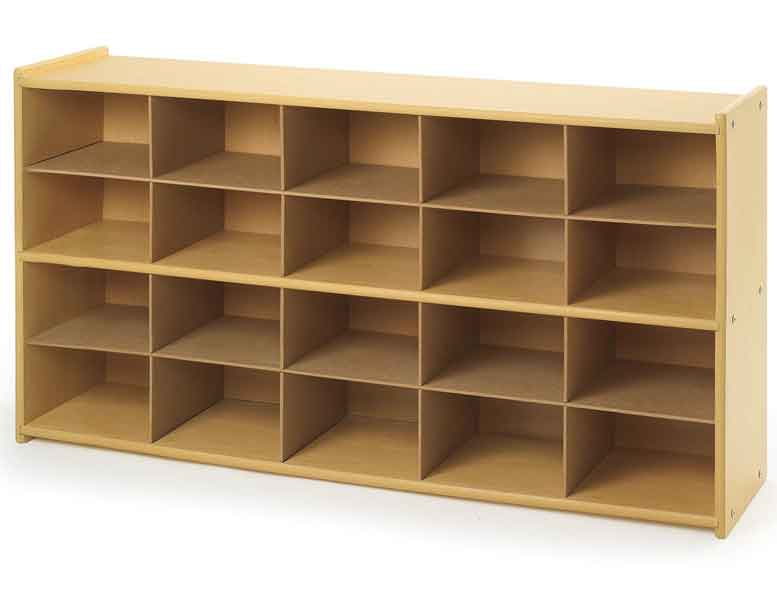 Angeles ANG7153 Value Line 20-Tray Cubby Storage - Unit Only - The Creativity Institute