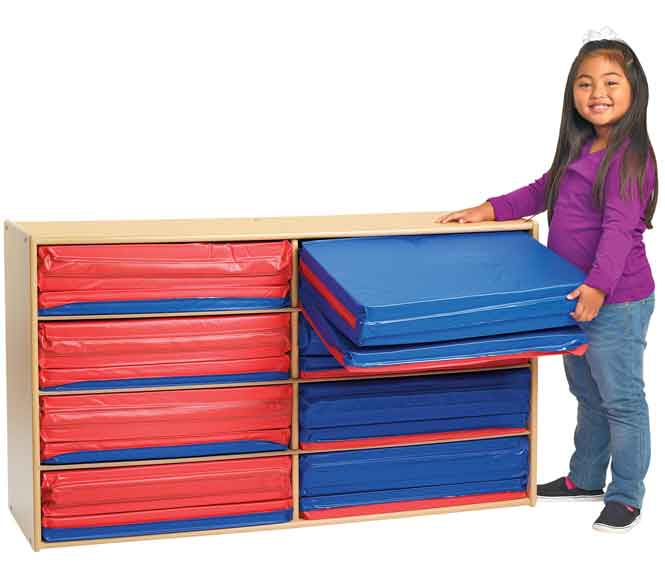 Angeles Value Line 8-Section 3-Fold Rest Mat Storage ANG7167
