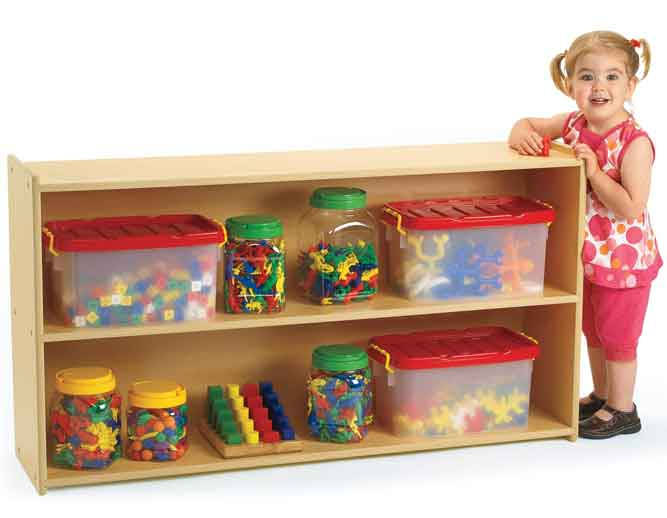 Angeles Value Line 48 in. Wide 2-Shelf Storage ANG7173 - The Creativity Institute