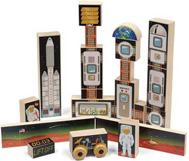 Maple Landmark 73372 Space Mission 1 Block Set