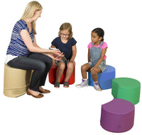 Children's Factory CF805-028 Painter's Stools Set of 4 with Teacher's Seat - No Mat