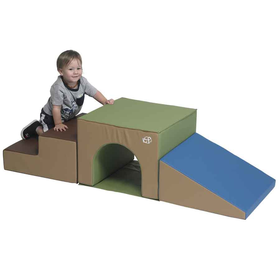 Children's Factory CF805-172 Over and Under Tunnel Climber – Woodland