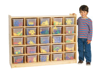 Angeles Value Line Birch 25-Tray Cubby Storage with Opaque Trays