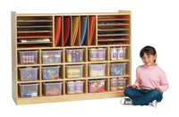 Angeles Value Line Birch Multi-Section Storage with Opaque Trays