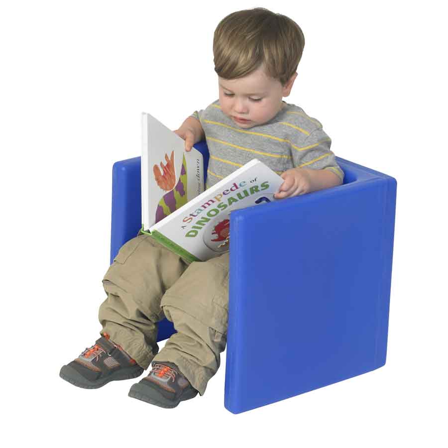 Children's Factory CF910-009 Chair Cubed - Blue Cube Chair