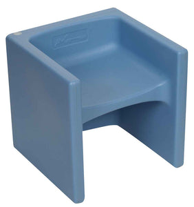 Children's Factory CF910-013 Cozy Woodland Chair Cubed - Sky Blue Cube Chair - The Creativity Institute