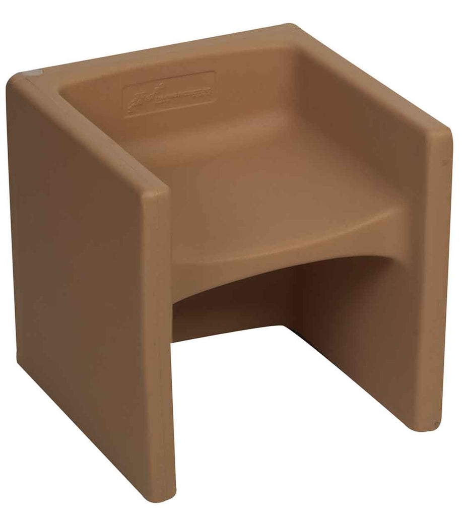 Children's Factory CF910-015 Cozy Woodland Chair Cubed - Almond Cube Chair