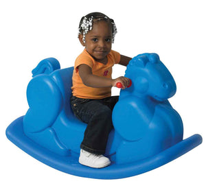 Children's Factory CF910-069 Molded Rocking Horse - Blue
