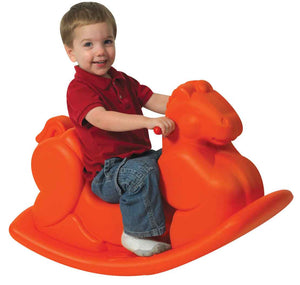 Children's Factory CF910-070 Molded Rocking Horse - Orange - The Creativity Institute