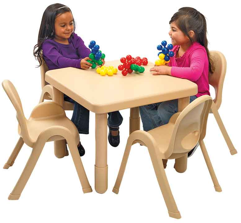 Angeles Preschool MyValue Set 4 Square - Natural Tan - The Creativity Institute
