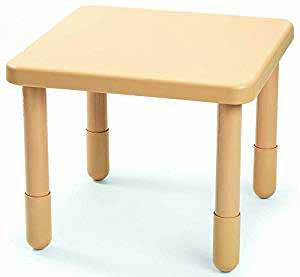 "Angeles 28"" X 28"" Value Table 18"" Legs - Natural Tan"