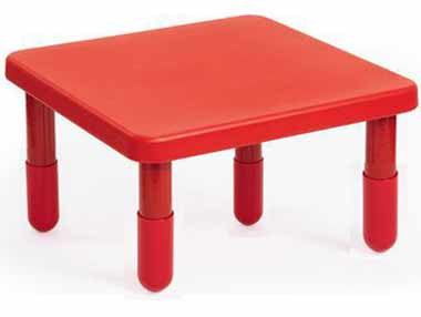 "Angeles 28"" X 28"" Value Table 14"" Legs - Red"