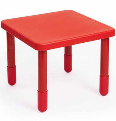"Angeles 28"" X 28"" Value Table 20"" Legs - Red"