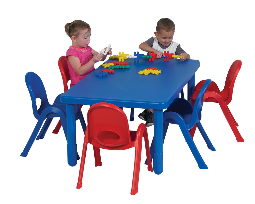 Angeles Preschool MyValue Set 6 Rectangle - Royal Blue