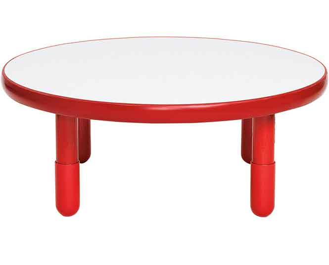 "Angeles BaseLine 36"" Round Diameter Table 12"" Legs - Candy Apple Red"