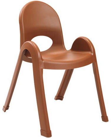 "Angeles AB7713CB4 Value Stack 13"" Chair 4 Pack -Cocoa"