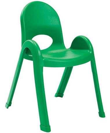 "Angeles AB7713PG4 Value Stack 13"" Chair 4 Pack - Green - The Creativity Institute"