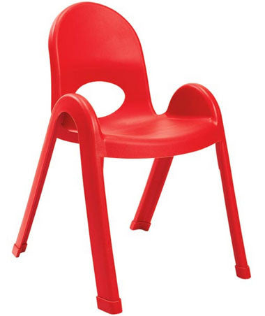 "Angeles AB7713PR Value Stack 13"" Chair - Red"