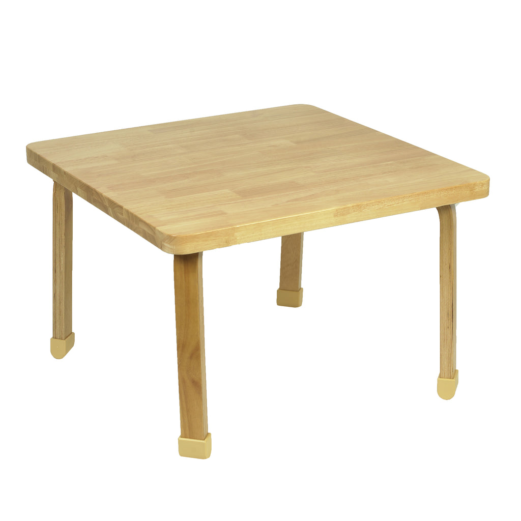 Angeles AB7800L20 Square NaturalWood Table - 20-Inch Legs