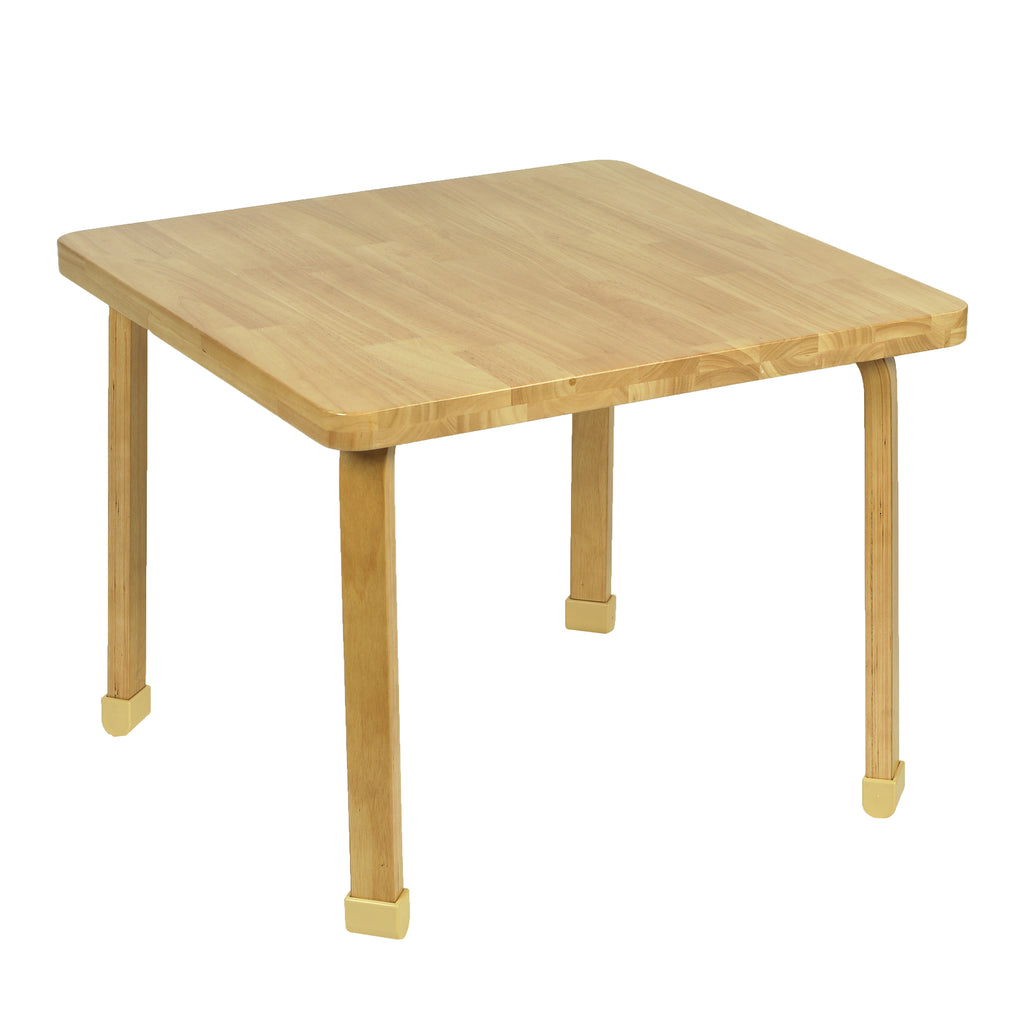 Angeles AB7800L24 Square NaturalWood Table - 24-Inch Legs