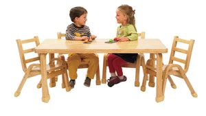 "Angeles NaturalWood Collection Preschool 30"" x 48"" RectangleTable & Chair Set"