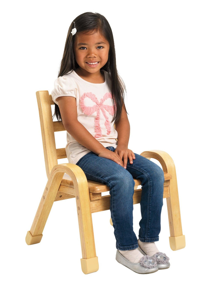 Angeles AB78C13 NaturalWood Chair - 13-Inch Seat Height - The Creativity Institute