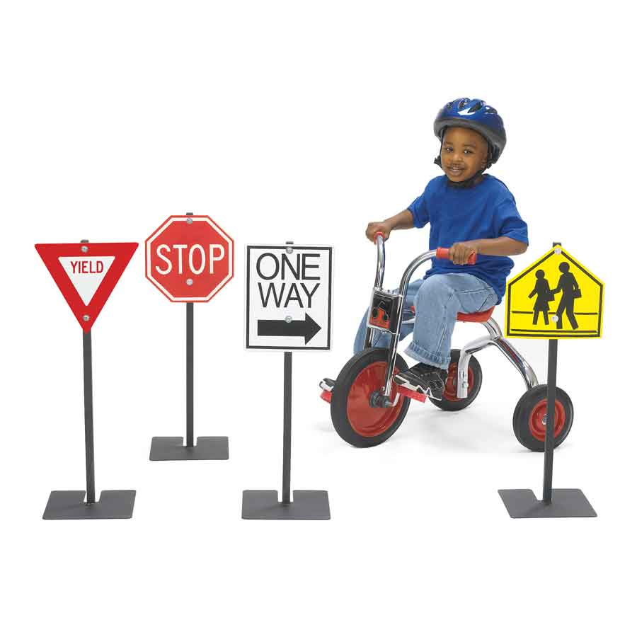 Angeles Trike Traffic Signs, Set of Four