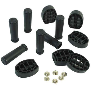 Angeles Parts - ClassicRider Black Pedal & Handgrip Set - The Creativity Institute