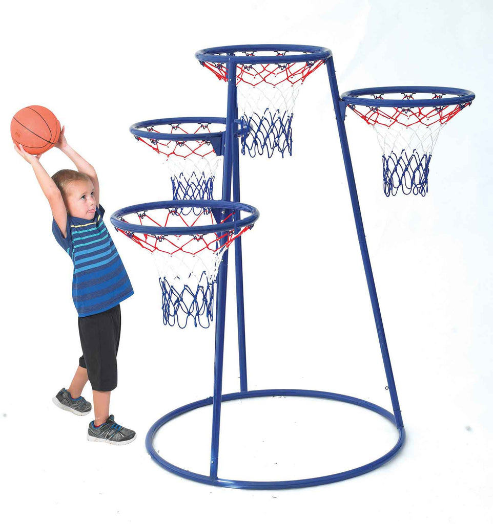 Angeles AFB7950 4-Rings Basketball Stand with Storage Bag