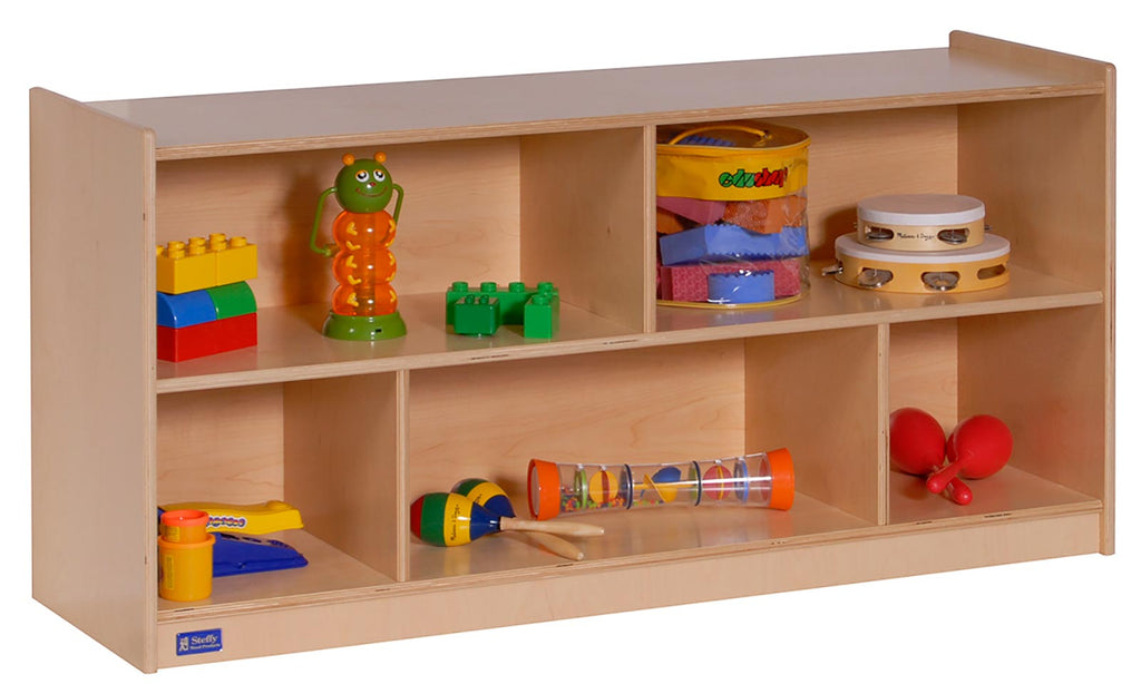 "Angeles 24"" Single Toddler 2-Shelf Mobile Storage ANG1008 - The Creativity Institute"