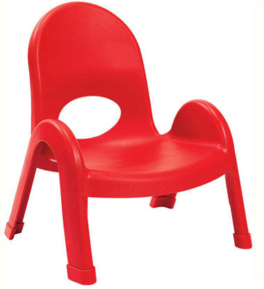 "Angeles AB7707PR4 Value Stack 7"" Chair 4 Pack - Red"