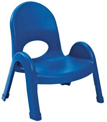 "Angeles AB7707PB Value Stack 7"" Chair - Blue - The Creativity Institute"