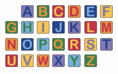 Learning Carpets Alphabet Seating Squares - Set of 26 - CPR944