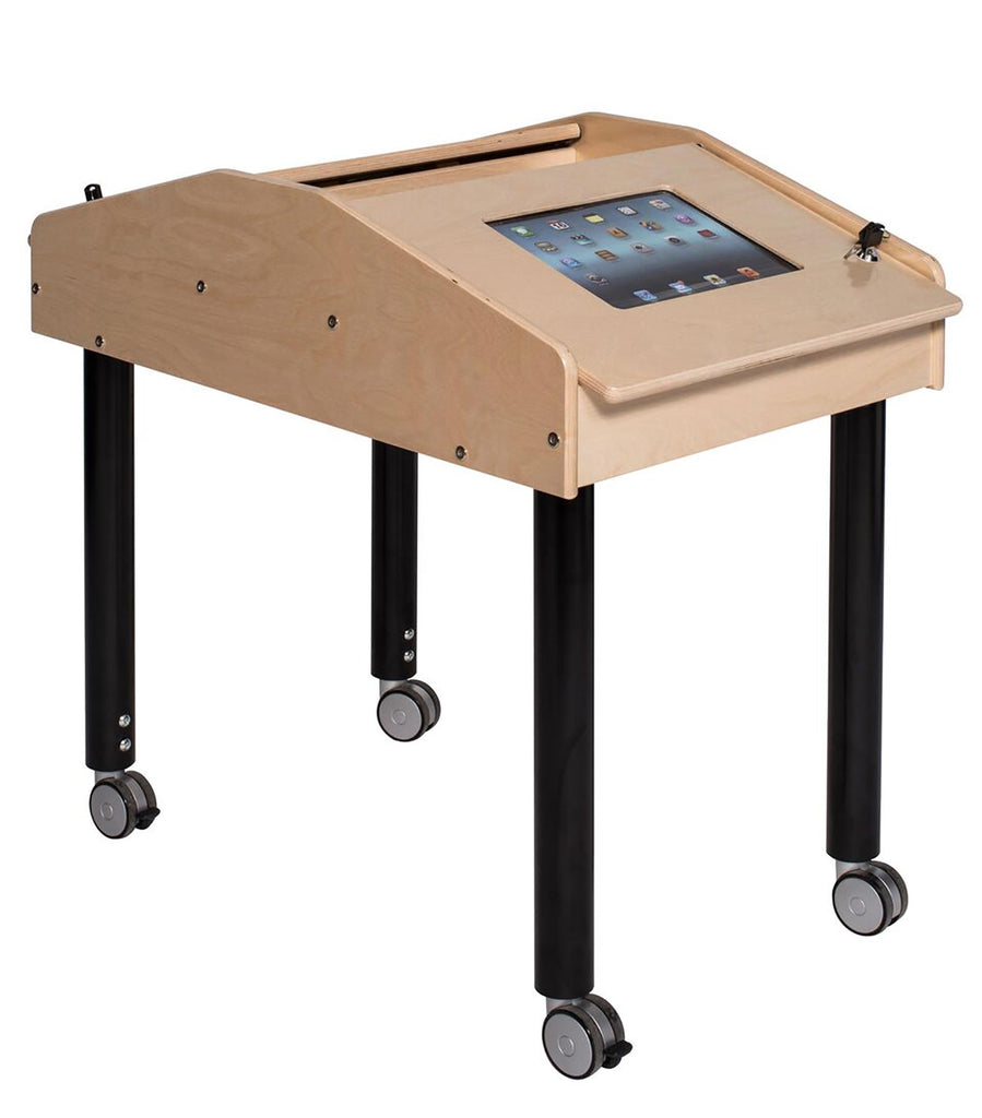 Angeles 2-Station Face-to-Face Technology Table with Adjustable Legs